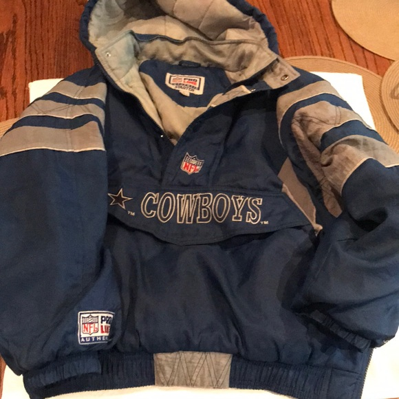 info for 6f08b a77d2 Vintage Dallas Cowboys starter Hooded jacket L